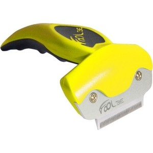 Фурминатор FoOLee One Small 4,5см желтый для кроликов, кошек и собак мелких пород цена и фото