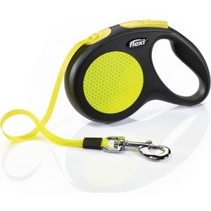 Рулетка Flexi Neon Reflect L лента 5м для собак до 50кг