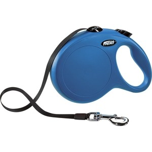 Рулетка Flexi New Classic L лента 8м синяя для собак до 50кг