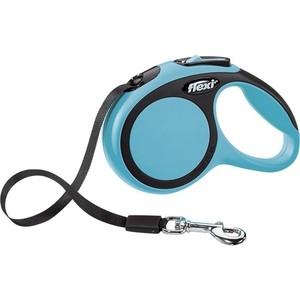 Рулетка Flexi New Comfort XS лента 3м синяя для собак до 12кг рулетка flexi new comfort xs трос 3м черный розовый для собак до 8кг