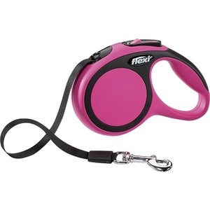Рулетка Flexi New Comfort XS лента 3м розовая для собак до 12кг