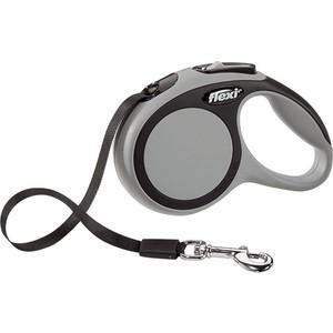 Рулетка Flexi New Comfort XS лента 3м серая для собак до 12кг