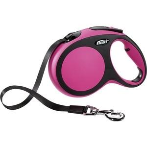 Рулетка Flexi New Comfort L лента 5м розовая для собак до 60кг рулетка flexi classic new l ремень 5м до 50кг черный