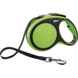 Рулетка Flexi New Comfort L лента 8м зеленая для собак до 50кг