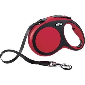 Рулетка Flexi New Comfort L лента 8м красная для собак до 50кг поводок рулетка усиленная пижон 8м красная