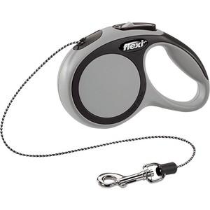 Рулетка Flexi New Comfort XS трос 3м серая для собак до 8кг рулетка flexi new comfort xs трос 3м черный розовый для собак до 8кг