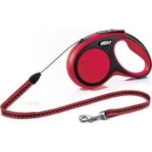 Рулетка Flexi New Comfort XS трос 3м красная для собак до 8кг рулетка flexi new comfort xs трос 3м черный розовый для собак до 8кг