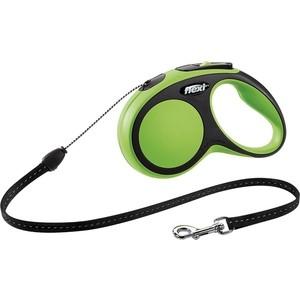 Рулетка Flexi New Comfort S трос 5м зеленая для собак до 12кг