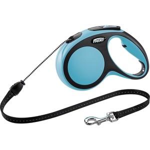 Рулетка Flexi New Comfort M трос 5м синяя для собак до 20кг