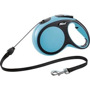 Рулетка Flexi New Comfort M трос 8м синяя для собак до 20кг