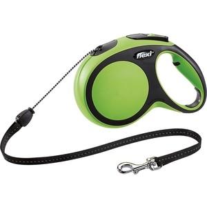 Рулетка Flexi New Comfort M трос 8м зеленая для собак до 20кг