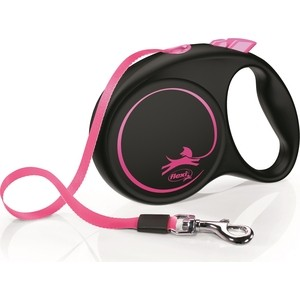 Рулетка Flexi LE Promotion M лента 5м розовая для собак до 25кг рулетка flexi classic new m ремень 5м до 25кг черный