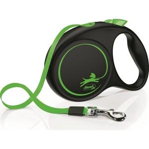 Рулетка Flexi LE Promotion M лента 5м зеленая для собак до 25кг рулетка flexi classic new m ремень 5м до 25кг черный