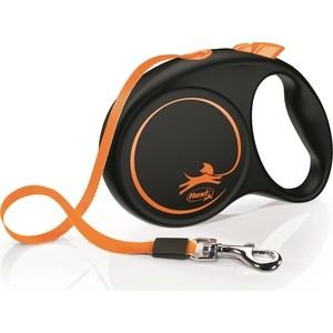 Рулетка Flexi LE Promotion M лента 5м оранжевая для собак до 25кг рулетка flexi classic new m ремень 5м до 25кг черный