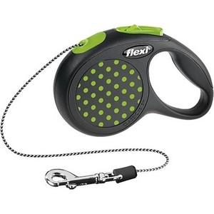Рулетка Flexi Design S трос 5м зеленая для собак до 12кг рулетка для собак flexi classic basic s до 12кг трос 5м черная