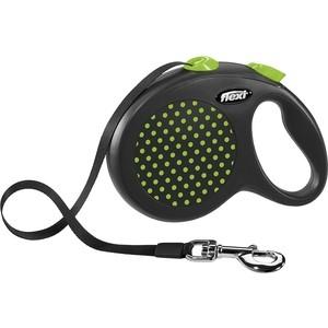Рулетка Flexi Design L лента 5м зелёная для собак до 50кг рулетка flexi classic new l ремень 5м до 50кг черный