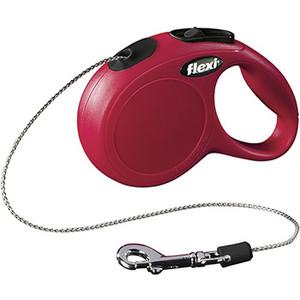 Рулетка Flexi New Classic CAT XS трос 3м красная для кошек до 8кг