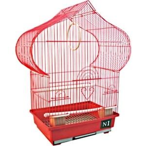 Клетка N1 30х22,5х50см пагода, укомплектованная для птиц (ДКп102)