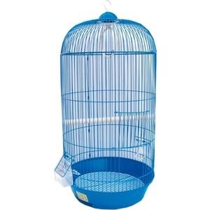 Клетка N1 33х67см круглая, высокая, укомплектованная для птиц (ДКпА309Д)