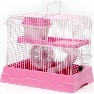 Клетка N1 30х23х25,7см прямоугольная, укомплектованная, розовая для хомяков (ДКг187роз)