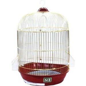 Клетка N1 33х53см золотая, круглая, укомплектованная для птиц (ДКпА 309G)