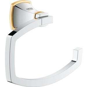 Держатель туалетной бумаги Grohe Grandera хром\золото (40625IG0) держатель туалетной бумаги grohe grandera без крышки хром 40625000