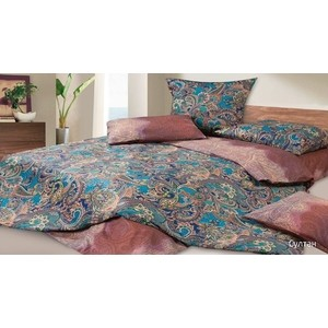 Комплект постельного белья Ecotex семейный, сатин Гармоника Султан (4670016951656)
