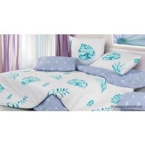цена Комплект постельного белья Ecotex евро, сатин Гармоника Монстера прекрасная (4650074957883) онлайн в 2017 году