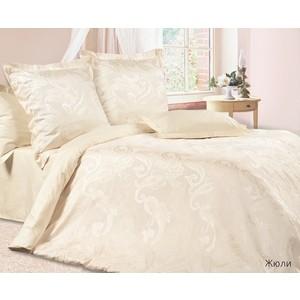 цена Комплект постельного белья Ecotex семейный, сатин-жаккард Эстетика Жюли (4607132578108) онлайн в 2017 году