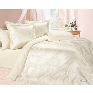 цена Комплект постельного белья Ecotex евро, сатин-жаккард Эстетика Нимфа (4670016957115) онлайн в 2017 году