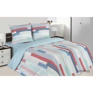 Комплект постельного белья Ecotex 1,5 сп, поплин Поэтика Голливуд (4660054342325)