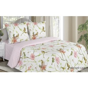 Комплект постельного белья Ecotex 1,5 сп, поплин Поэтика Райский сад (4660054341915)