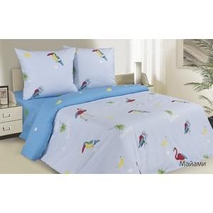 Комплект постельного белья Ecotex 2 сп, поплин Поэтика Майами (4660054341694) комплект постельного белья ecotex 1 5 сп поплин жаклин кп1жаклин