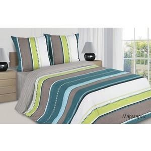 Комплект постельного белья Ecotex евро, поплин Поэтика Мармарис (4660054341830)