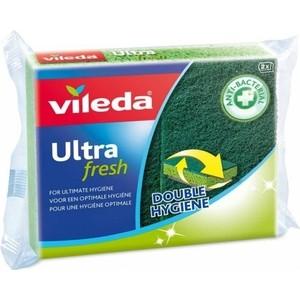 Губка VILEDA Ultra fresh ( Ультрафреш), антибактериальная 2 шт фото