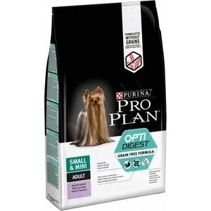 Сухой корм PRO PLAN OPTIDIGEST Grain Free Small & Mini беззерновой с индейкой для собак мелких пород чувствительным пищеварением 7кг (12399414)