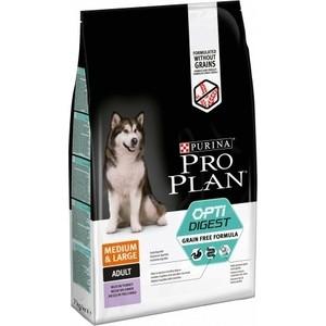 Сухой корм PRO PLAN OPTIDIGEST Grain Free Medium &Large беззерновой с индейкой для собак средних и крупных пород чувствительным пищеварением 7кг