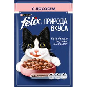 Паучи Felix Природа Вкуса с лососем для кошек 85г (12392209)
