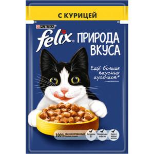 Паучи Felix Природа Вкуса с курицей для кошек 85г (12392207)