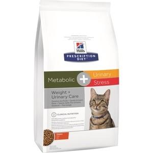 Сухой корм Hills Prescription Diet Metabolic & Urinary Stress with Chicken с курицей диета при коррекции веса и урологии для кошек 1,5кг (10544)