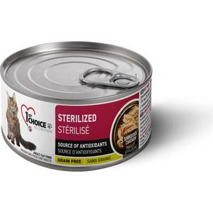Консервы 1-ST CHOICE Adult Cat Sterelized Grain Free Shredded Chicken с курицей для стерилизованных кошек 85г (102.6.023)