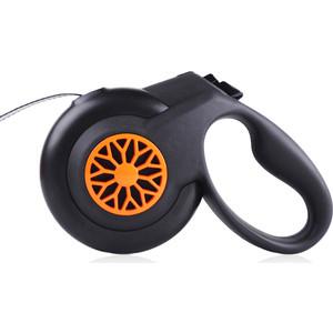 Рулетка Fida Smart Walk S лента 5м черно-оранжевая для собак до 15кг (с системой автоматического торможения)