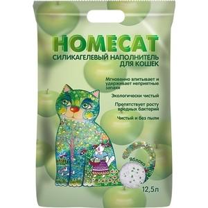 Фото - Наполнитель HomeCat Яблоко силикагелевый впитывающий с ароматом яблока для кошек 12,5л наполнитель intersand extreme classic hygienic litter впитывающий без ароматизатира для кошек 6 87кг л14212
