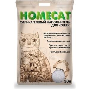Фото - Наполнитель HomeCat Стандарт силикагелевый впитывающий для кошек 30л наполнитель intersand extreme classic hygienic litter впитывающий без ароматизатира для кошек 6 87кг л14212