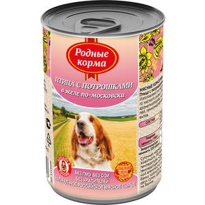 Консервы Родные Корма Птица с потрошками в желе по-московски для собак 410г