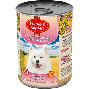 Консервы Родные Корма Птица с потрошками в желе по-московски для собак 970г