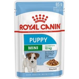 Пауч Royal Canin Mini Puppy Gravy-Salsa кусочки в соусе сальса для щенков мелких пород с 2 до 10мес 85г