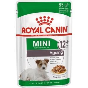 Пауч Royal Canin Mini Ageing 12+ Sause-Sobe кусочки в соусе собе для собак мелких пород старше 12лет 85г happy ageing