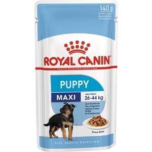 Пауч Royal Canin Maxi Puppy Gravy-Salsa кусочки в соусе сальса для щенков крупных пород c 2 до 10мес 140г