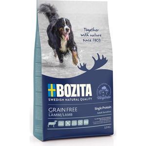 Сухой корм BOZITA Grain Free Adult Sensitive Single Protein with Lamb 23/12 беззерновой с ягненком для взрослых собак 3,5кг (40623) сухой корм bozita robur sensitive single protein lamb